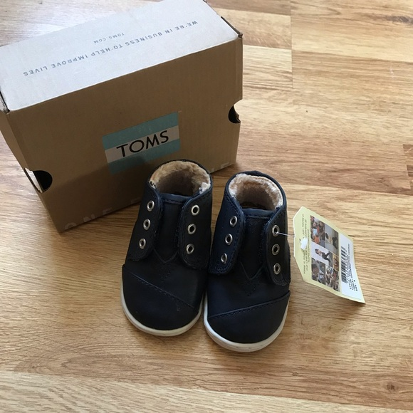 Toms Other - Tiny Toms Paseo Mid Sneakers Size 4 Baby Toddler